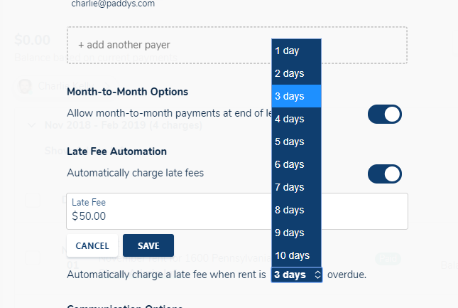How do I automatically charge late rent fees? – Avail